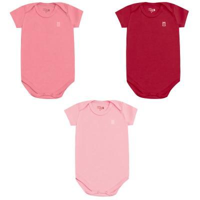 body-basico-manga-curta-kit-3-pecas-kiko-e-kika-rose-vermelho-e-rosa