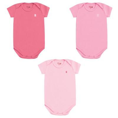 body-basico-manga-curta-kit-3-pecas-kiko-e-kika-rn-ao-g-pink-rosa-chiclete-e-rosa-bebe