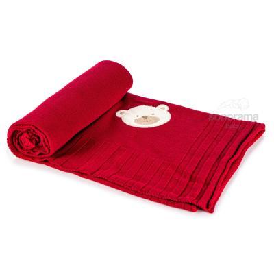 manta-tricot-bordada-classic-vinho-ursinho