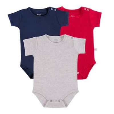 body-basico-manga-curta-kit-3-pecas-cinza-marinho-e-vermelho