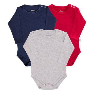 body-basico-manga-longa-kit-3-pecas-cinza-marinho-e-vermelho