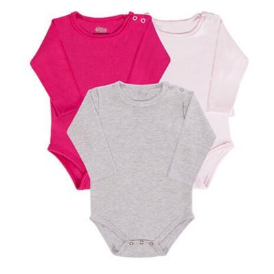 body-basico-manga-longa-kit-3-pecas-cinza-pink-e-rosa-claro