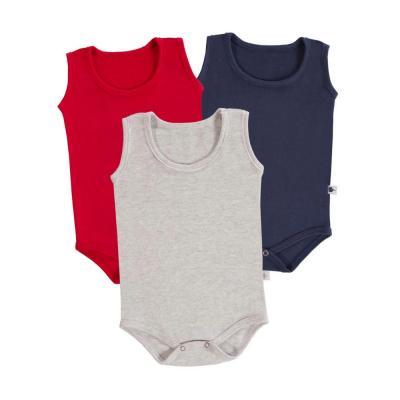 body-basico-regata-kit-3-pecas-cinza-marinho-e-vermelho