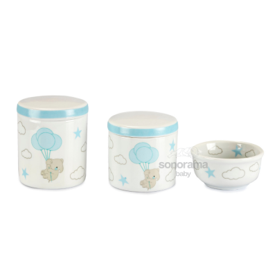 trio-de-potes-porcelana-3-pecas-elefantinho-azul