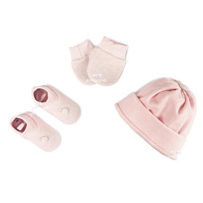 kit-touca-luva-e-sapatinho-de-suedine-para-recem-nascido-rosa