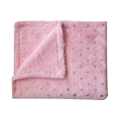 manta-sherpa-aveludada-rosa-estrelinhas