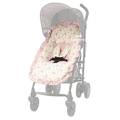 capa-para-carrinho-de-bebe-tecido-floral-creme-e-rose