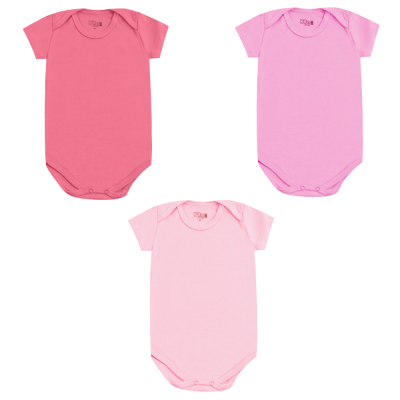 body-basico-manga-curta-kit-3-pecas-kiko-e-kika-1-ao-3-pink-rosa-chiclete-e-rosa-bebe