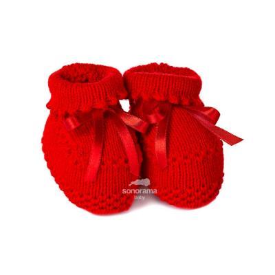 sapatinho-de-trico-botinha-vermelho